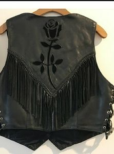 Jackets & Coats - 100% Real Leather Vintage Fringe Vest